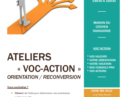Ateliers Voc'Action orientation/reconversion
