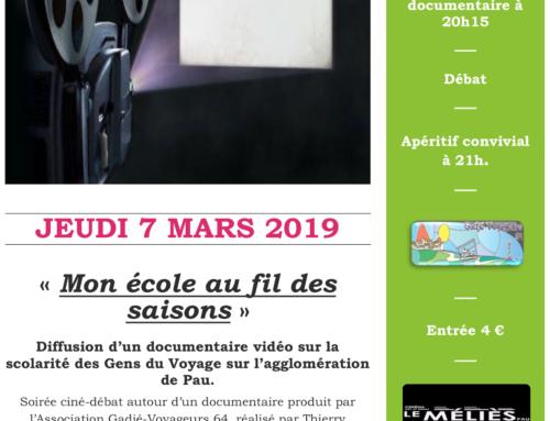 Soirée Ciné Débat Méliès – Scolarisation des enfants du Voyage.
