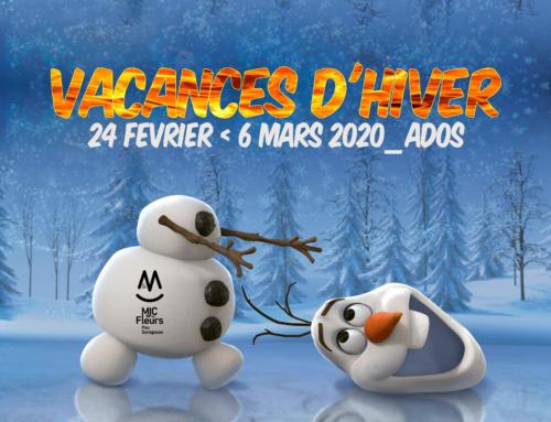 Programme Secteur Ados Vacances Février 2020