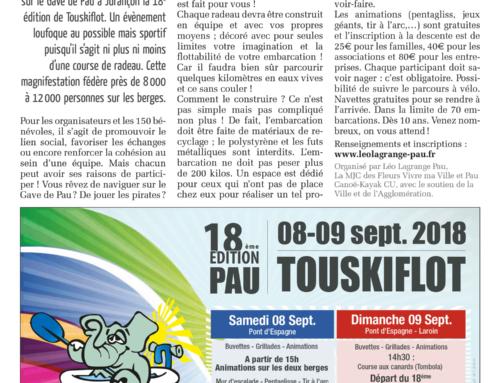 Article sur Touskiflot dans le Béarn Mag