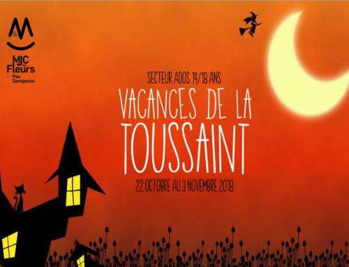 Programme Secteur Ados Vacances Toussaint 2018
