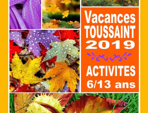 Programme ALSH 6-13 ans Toussaint 2019